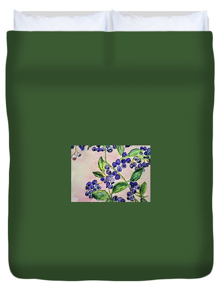 Blueberries Duvet Cover by Kim Nelson