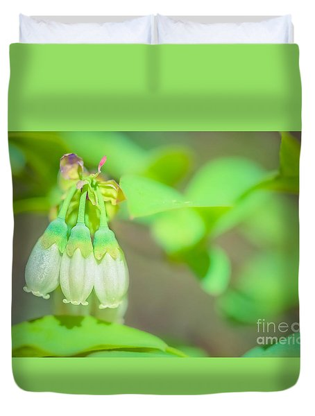 Blueberry Blooms Duvet Cover by Kim Henderson