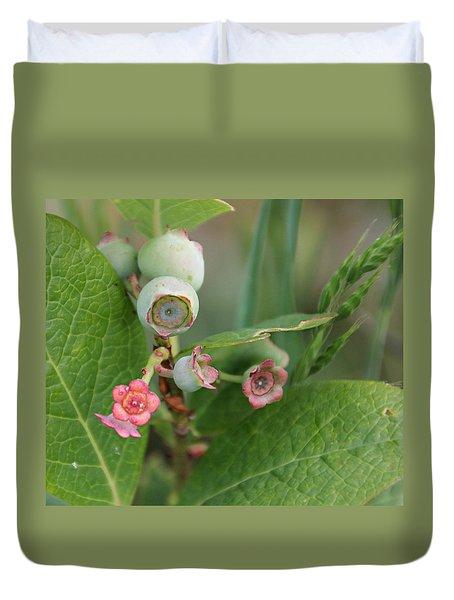 Blueberry Blossoms Duvet Cover