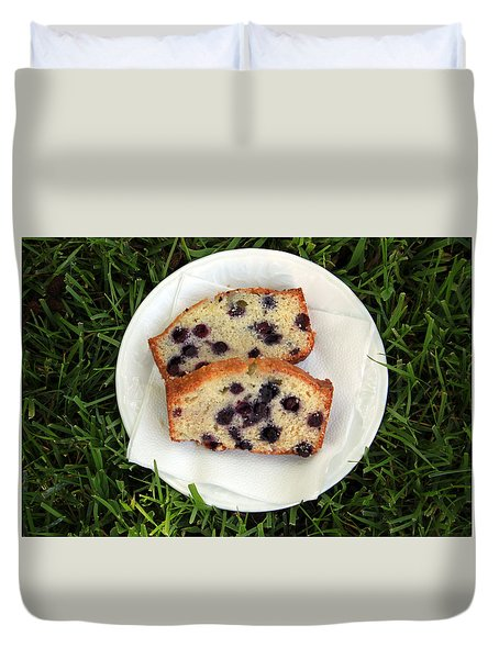 Blueberry Bread Duvet Cover