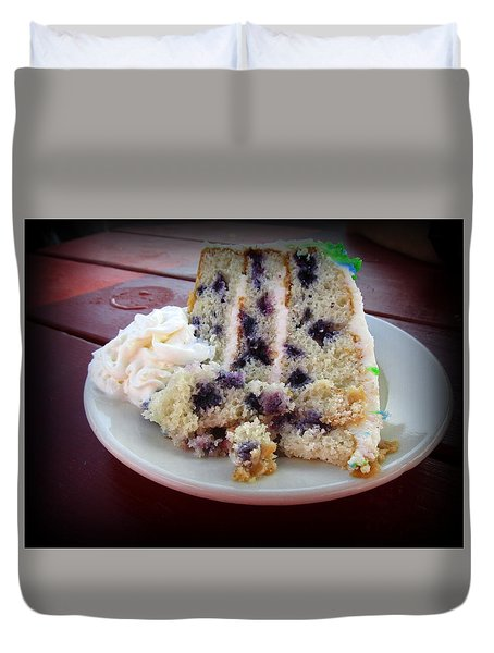 Blueberry Cake With Lemon Icing Duvet Cover