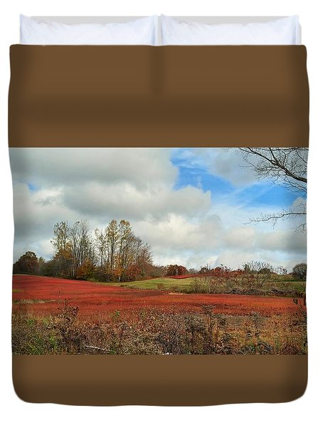 Blueberry Fields Duvet Cover by Jewels Blake Hamrick