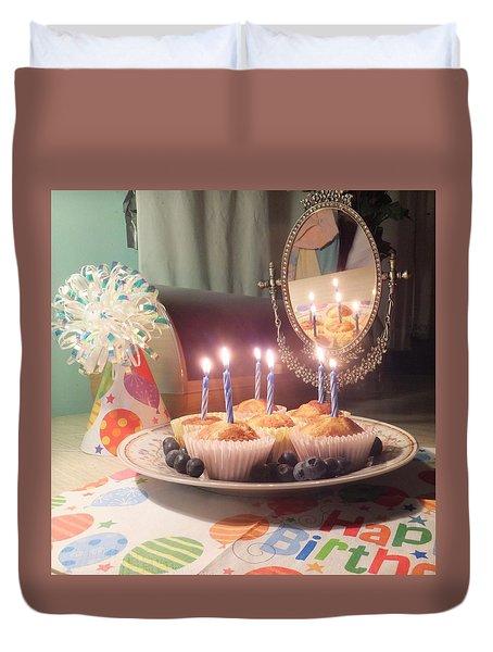 Blueberry Muffin Birthday Duvet Cover