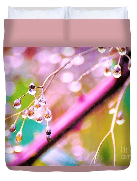 Blueberry Pearls Duvet Cover