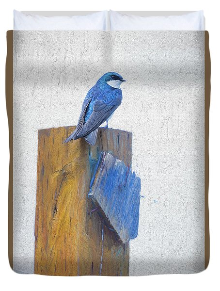Duvet Cover featuring the photograph Bluebird by James BO Insogna