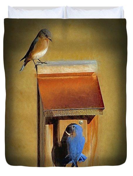 Bluebird Parents Duvet Cover