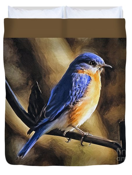 Bluebird Portrait Duvet Cover by Sue Melvin