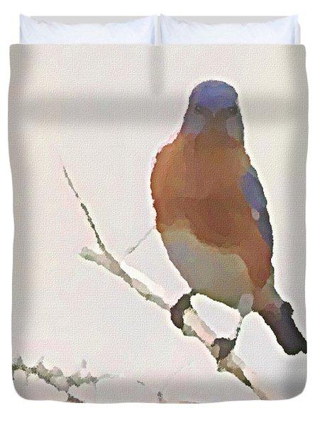 Bluebird Stare  Duvet Cover
