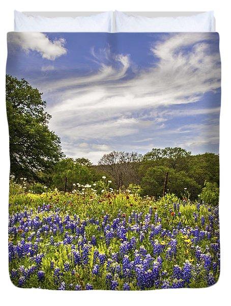 Bluebonnet Spring Duvet Cover