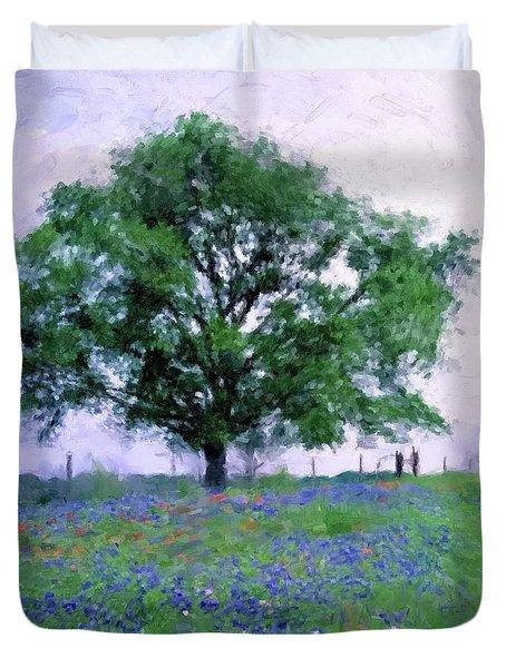 Bluebonnet Tree Duvet Cover