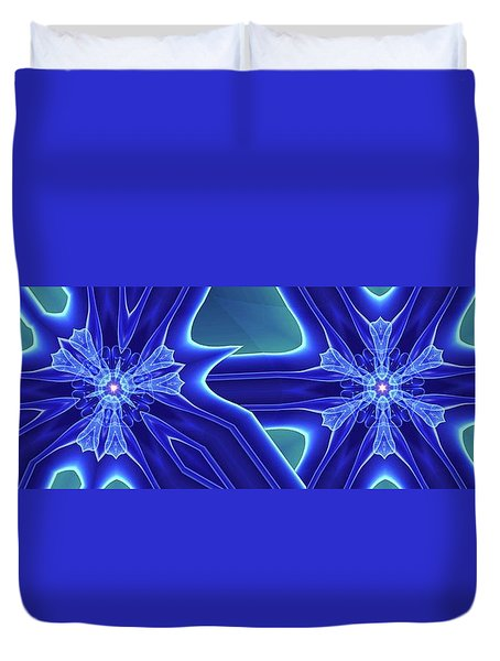 Blued Duvet Cover by Ron Bissett