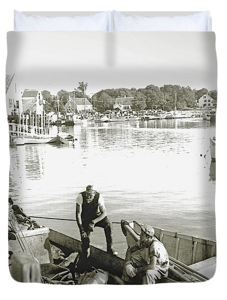 Bluefin Tuna At Barnstable Harbor Duvet Cover