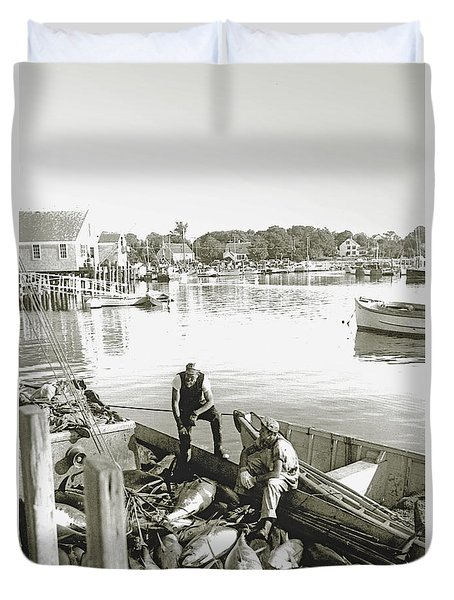 Bluefin Tuna At Barnstable Harbor Duvet Cover