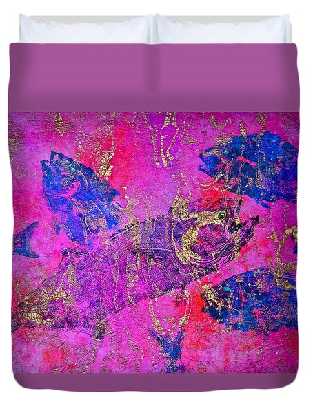 Bluefish Mascara - Maurada - Food Chain Duvet Cover