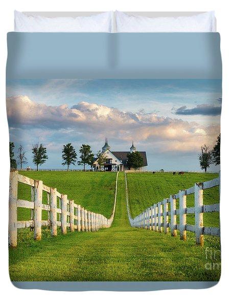 Bluegrass Barn Duvet Cover
