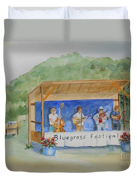 Bluegrass Festival Duvet Cover