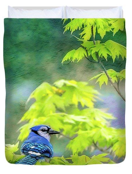 Bluejay Duvet Cover