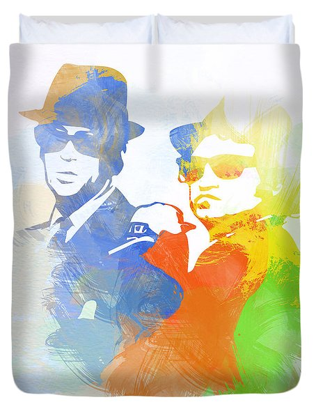 Blues Brothers Duvet Cover by Naxart Studio