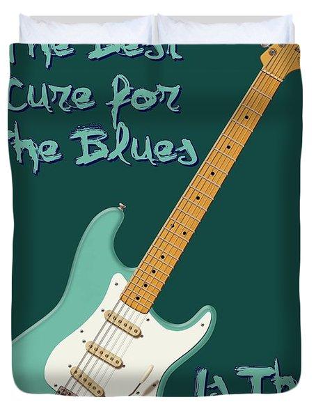 Blues Cure Seafoam Duvet Cover