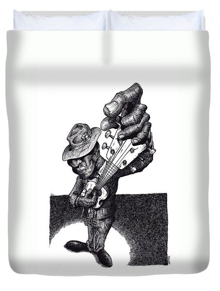 Blues Guitar Duvet Cover by Tobey Anderson