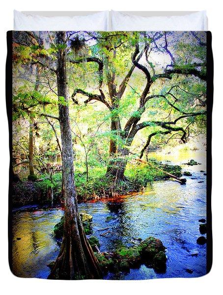 Blues In Florida Swamp Duvet Cover