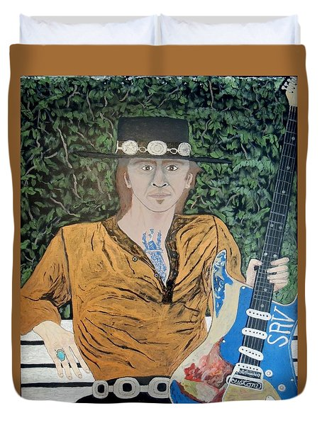 Blues In The Park With Stevie Ray Vaughan. Duvet Cover