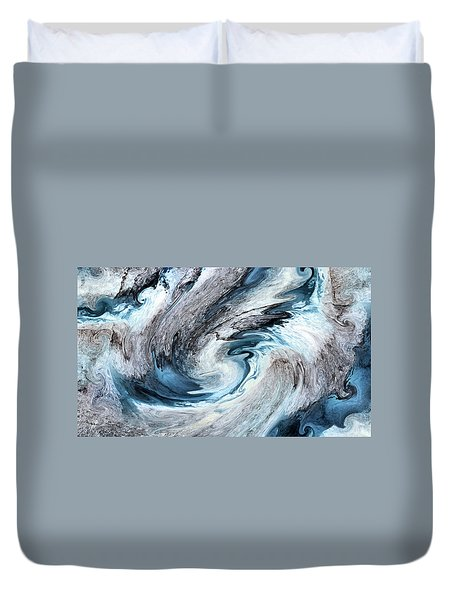 Duvet Cover featuring the photograph Blues by Kristin Elmquist