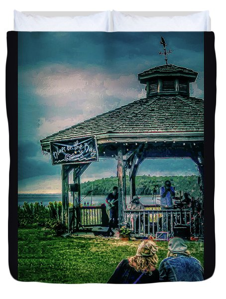 Blues On The Bay Duvet Cover