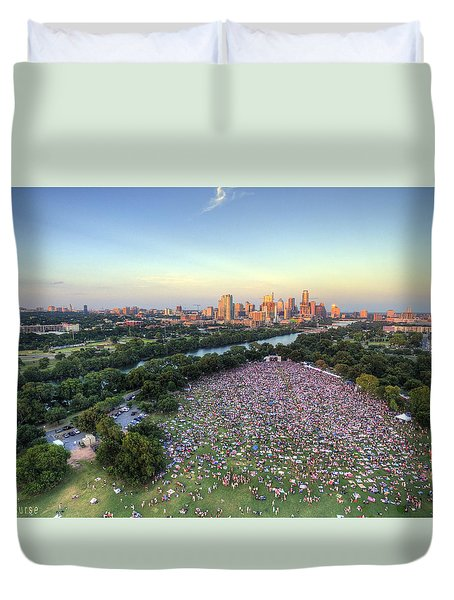 Blues On The Green With Bob Schneider Duvet Cover by Andrew Nourse