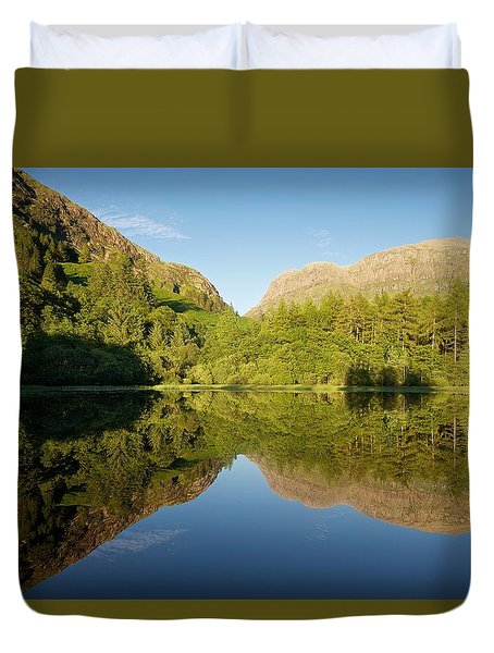 Blues Skies In Glencoe Duvet Cover