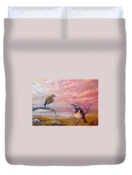 Bluethroat On The Tundra #2 Duvet Cover