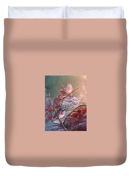 Bluethroat On The Tundra/ #3 Duvet Cover