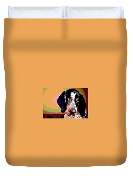 Bluetick Coonhound Duvet Cover