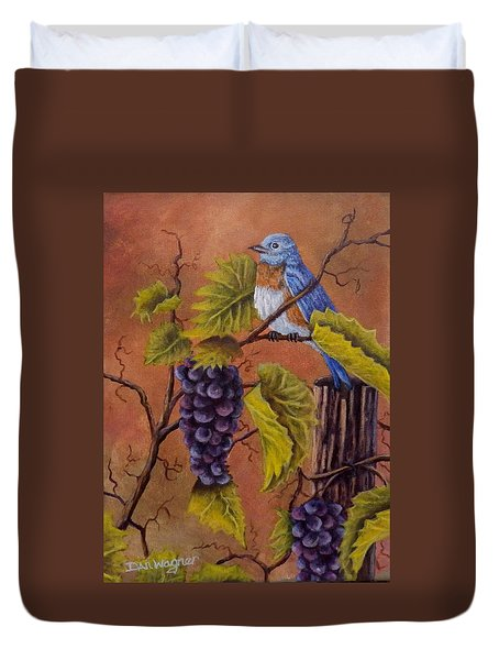 Bluey And The Grape Vine Duvet Cover by Dan Wagner