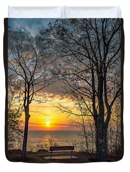 Bluff Bench Duvet Cover by James  Meyer