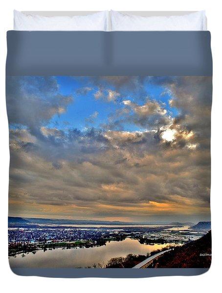 Bluff Sunrise Duvet Cover
