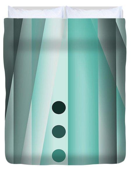 Bluish Stripes Duvet Cover