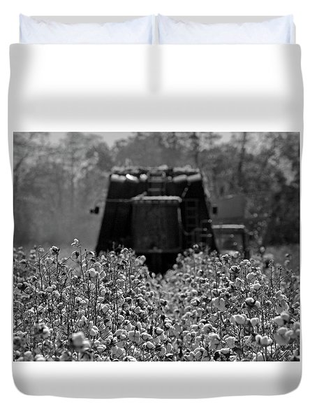 Blurred Black And White Duvet Cover