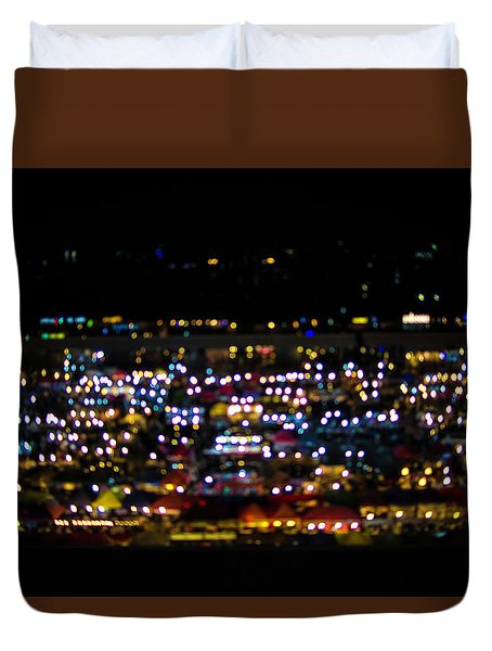 Blurred City Lights  Duvet Cover