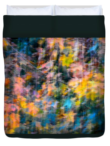 Blurred Leaf Abstract 2 Duvet Cover