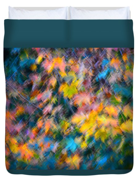 Blurred Leaf Abstract 3 Duvet Cover