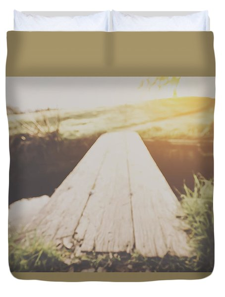 Blurred Nature Background With Vintage Filter Duvet Cover by Brandon Bourdages