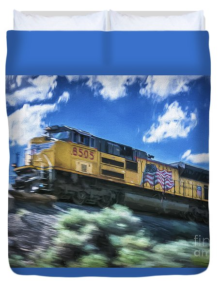 Blurred Rails Duvet Cover