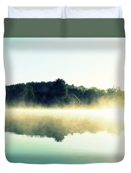 Duvet Cover featuring the photograph Blurry Morning by France Laliberte