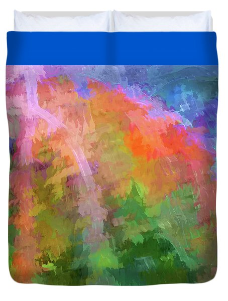 Blurry Painting Duvet Cover by Wendy McKennon