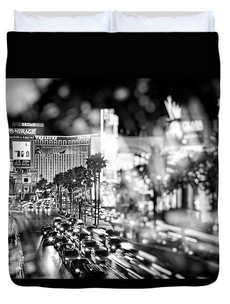 Blurry Vegas Nights IIi Duvet Cover