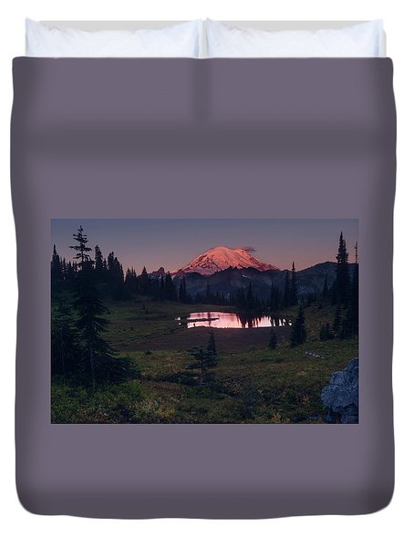 Duvet Cover featuring the photograph Morning Blush by Gene Garnace