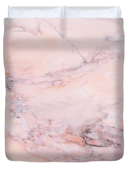 Blush Marble Duvet Cover