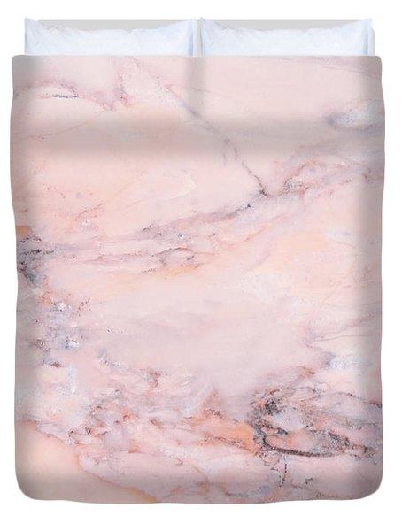 Blush Marble Duvet Cover