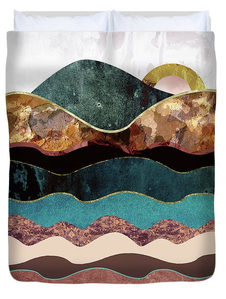 Blush Moon Duvet Cover